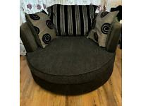 Two seater cuddle swivel chair *MUST GO TODAY*