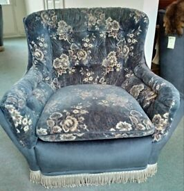 Three piece suite plus extra armchairs - Burgess Hill
