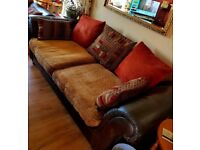 3 seater sofa/bed with sprung mattress plus matching 2 seater.