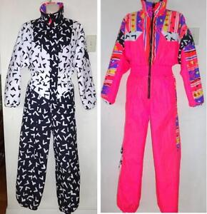 OBERMEYER WOMENS XS/S Vintage SKI SUIT SKISUIT SNOW ONE PIECE REVERSIBLE Youth 16