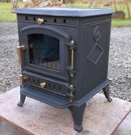 NEW Warmland 2 Cast Iron Coal & Woodburning Multi-fuel Stove