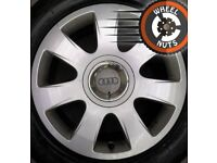 "16"" Genuine Audi alloys VW Golf Caddy Leon excel cond premium tyres."