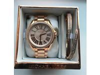 Michael Kors Rose Gold Watch with Bracelet