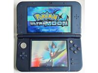 'New' NINTENDO 3DS XL METALLIC BLUE with 130 GAMES + Charger