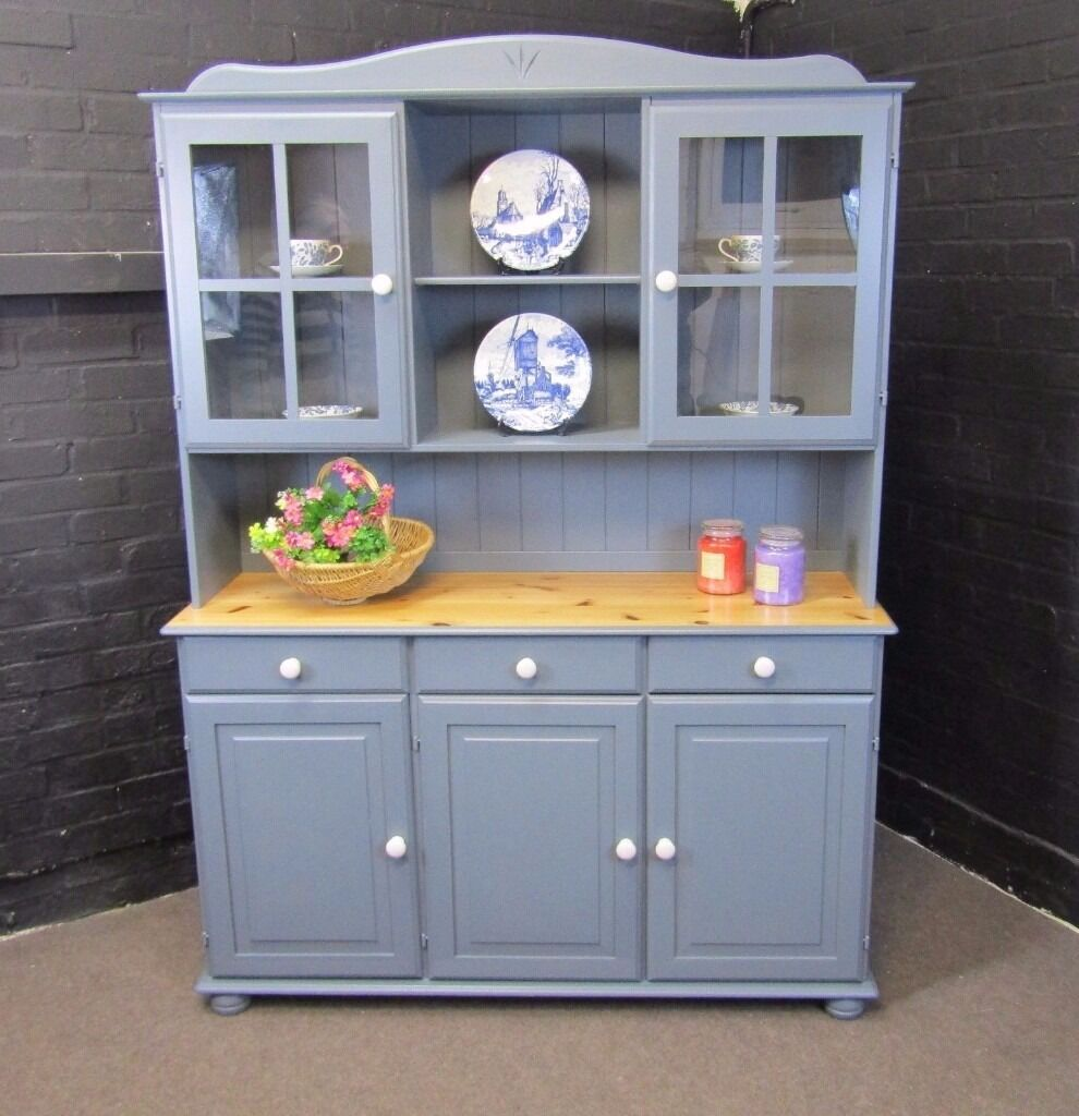 Pine welsh dresser kitchen unit shabby chic for Fitted kitchen dresser unit