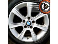 "17"" BMW 3 series alloys good condition premium runflats."