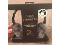 Audio earmuffs headphones NEW in box! Unisex