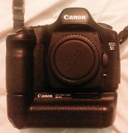 Canon EOS 5D Digital SLR + Battery Grip