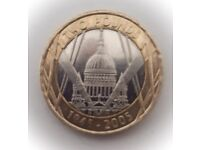 Minting error £2 coin