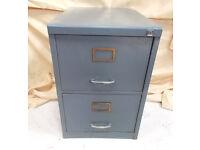 2 Draw Filing Cabinet Dark Grey - No key