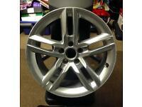 """Audi/VW 5 stud 18"""" Alloy wheels x 2."""
