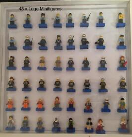 Large Collection of Lego Mini Figures Framed