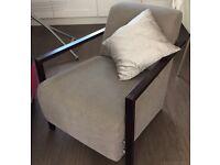Grey armchair, hardly used.