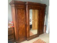 Large Antique Late Victorian Mahogany 'Gentleman's' Wardrobe