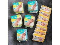Pampers and Boots nappies size 1 - New