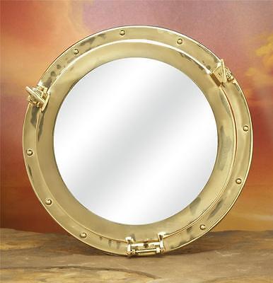 "Ships Porthole 10"" w/ Mirror Solid Polished Brass Nautical Marine Decor #2155"