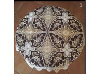 Decorative Table Cloth (Embroidery cut working) Champagne Colour