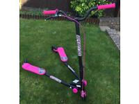 Smyths Girls Sporter 2 Pink & Black Scooter - Immaculate Condition