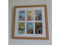 Enid Blyton vintage book covers. Professionally framed. Mid century illustrations. As new