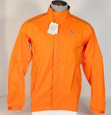 Puma Storm Cell Pro Orange Convertible Golf Jacket & Carry Bag Mens NWT