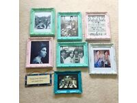 Set of 8 URBAN OUTFITTERS photo frames