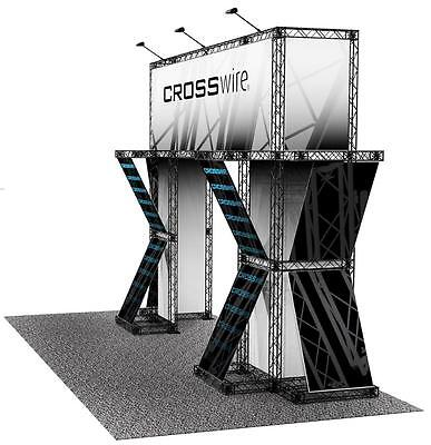 Portable Trade Show Truss Display 10 X 20 Exhibit Booth - Crosswire Exhibits