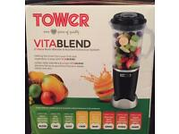 21 piece Tower Vitablend (black) with Nutrient Extraction System
