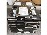 35 x Hard Drives HDD Job Lot Various Makes 160GB SATA 3.5 PC Computer Desktop CCTV