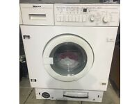 NEFF 7kg integrated washer dryer 1400 spin £140 free delivery & installation
