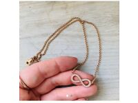 Thomas Sabo Infinity necklace in rose gold