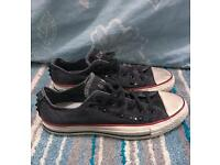 Studded Grey Converse All Star trainers size 6