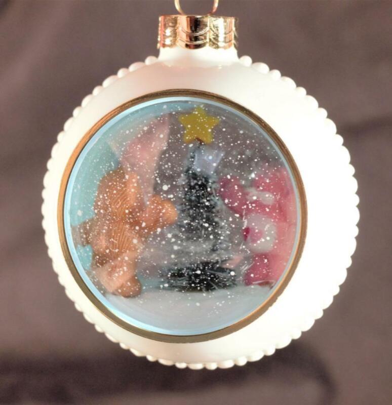 "NIB 1984 Care Bears American Greetings ""Snow Scene"" Plastic Ball Ornament"