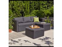 Orlando Chaise and Footstool Garden Patio/Decking set