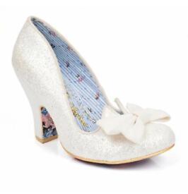 Irregular Choice Sz 5 Nick of Time Cream Glitter Bridal Shoes