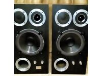 WHARFEDALE HI FI SPEAKERS, VINTAGE CLASSIC E.50, PERFECT WORKING ORDER