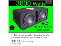 Amazing Amp and Twin Subs 3600W brand new condition!!