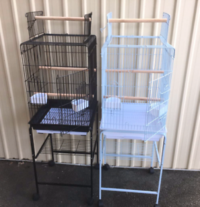 BRAND NEW Open Roof Parrot Cage $90; trolley $30 extra; eftpos
