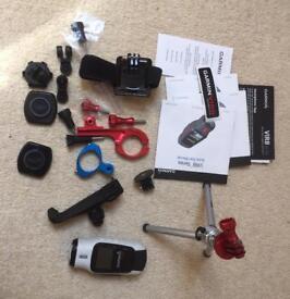 Action Camera Garmin Virb Elite with accessories