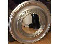 Very Large Round Silver Mirror