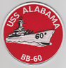 US NAVY USS ALABAMA BB-60- NO VELCO PATCH NEW!!!