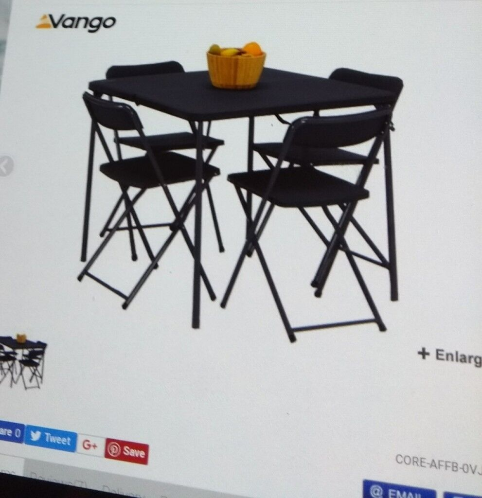 Astounding Camping Caravan Folding Table 4 Chairs With Storage Bag Grey Still Selling In Go Outdoors In Bransholme East Yorkshire Gumtree Machost Co Dining Chair Design Ideas Machostcouk