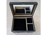 Wooden Jewellery Box with drawers and mirror. Case Cabinet Gift box