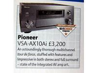 Pioneer VSX-AX10i-S SUPER AMP AIR STUDIO 40kg EDITOR HI-FI CHOICE BEST BUY