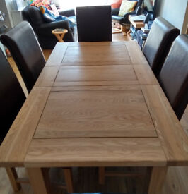 extending Dining room ash table