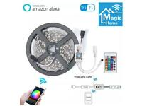 5m 5050 LED Strip lights. WiFi controlled. Works with Alexa