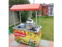 - SWEET CORN CART FOOD / CATERING / TROLLEY / TRAILER WITH NEW SWEETCORN STEAMER MACHINE STAND KIOSK