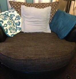 Swivel cuddle chair 3 seater + chair