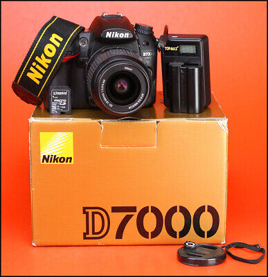 Nikon D7000 DSLR Camera & Nikon 18-55mm Zoom Lens Kit + Boxed Charger & Battery.