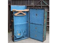 A Late C19th American Steamer Travel Trunk Wardrobe Fitted Interior UK Delivery Available