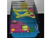 LARGE HAMSTER/GERBIL CAGE WITH ACCESSORIES IN CLEAN LITTLE USED CONDITION ONLY £35 CAN DELIVER
